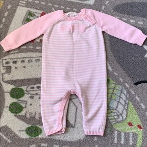 Baby Girls Knit Pink Sweater Winter Romper